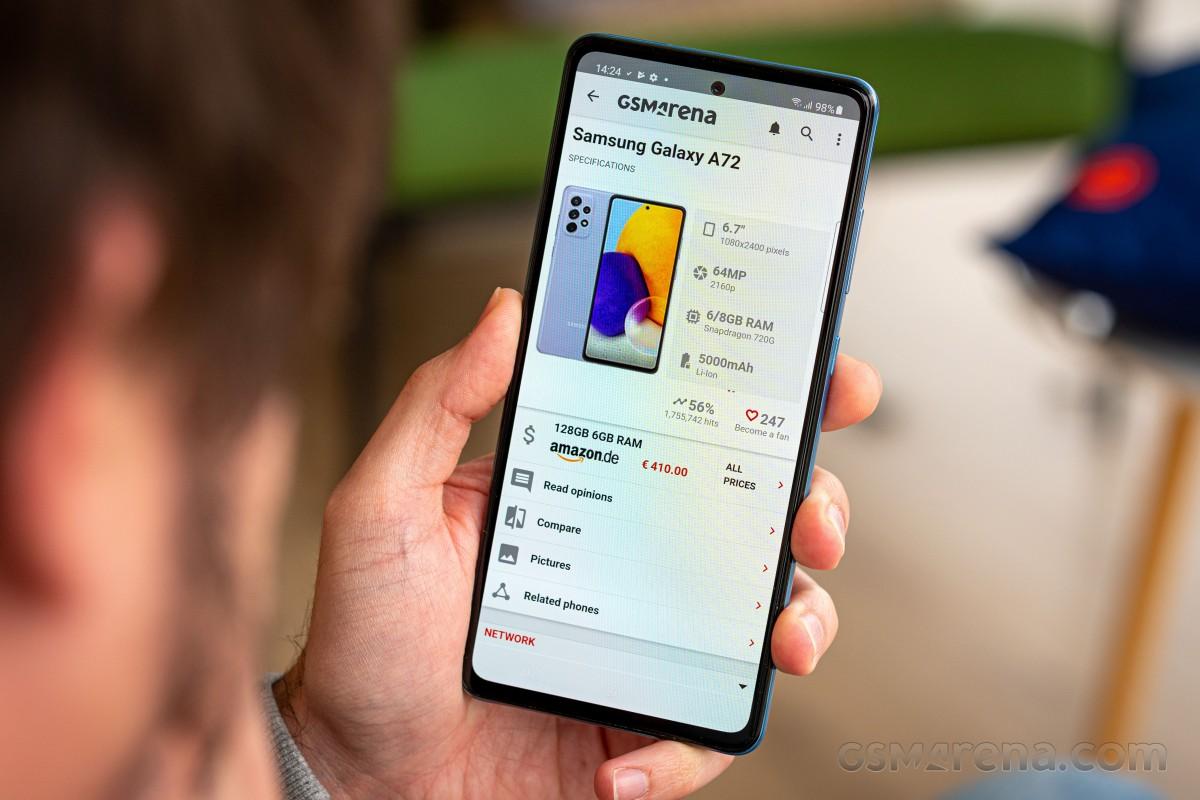 Samsung Galaxy A72 4G para revisión